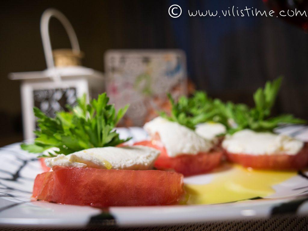 Розови домати с Рикота