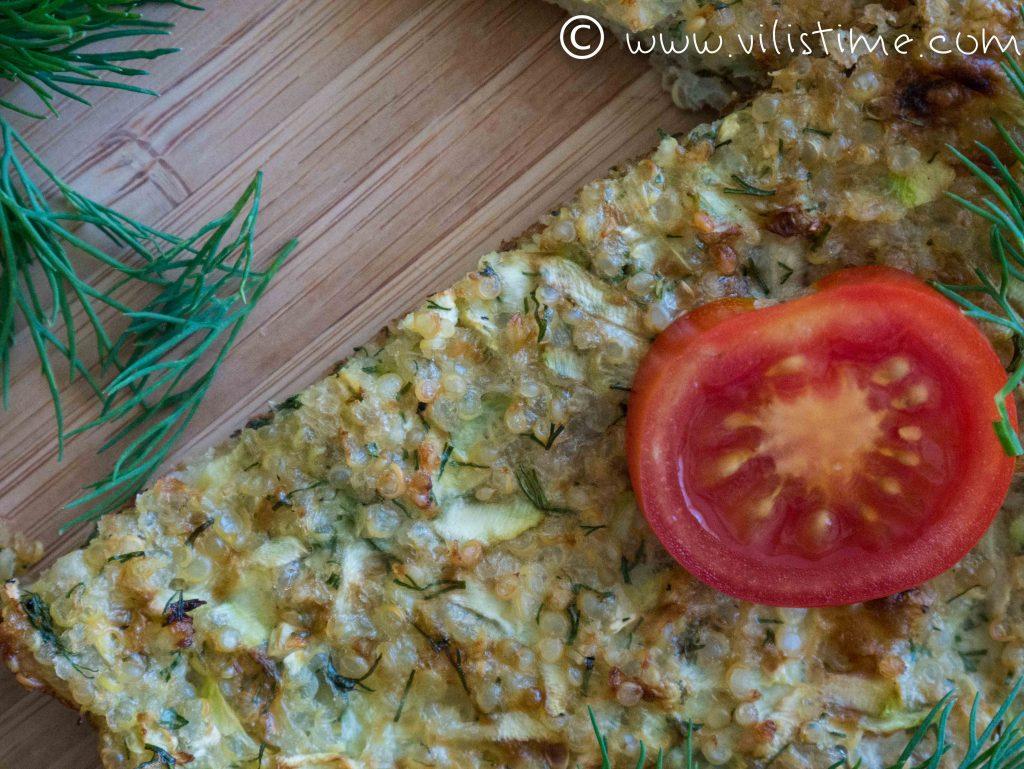 Пица от киноа и тиквички