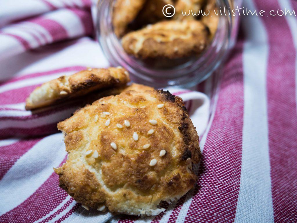 Солени бисквити със сирене чедър и кимион
