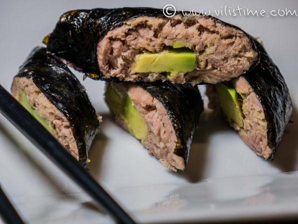 Домашното ни суши с риба тон и авокадо