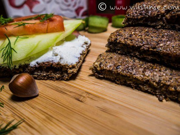 Нисковъглехидратно веган хлебче без брашно