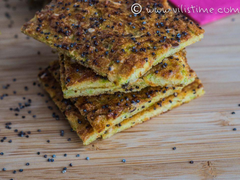 Гризини от тиквички с бадемово брашно и семена
