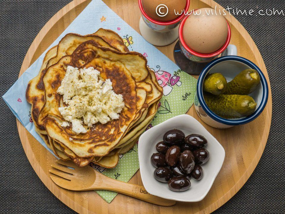Домашни палачинки от сметана и кокосово брашно