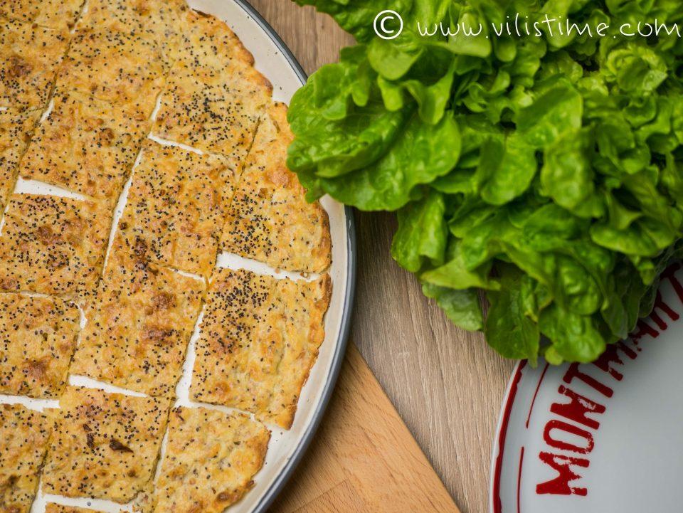 Безглутенови соленки с крема сирене и риган