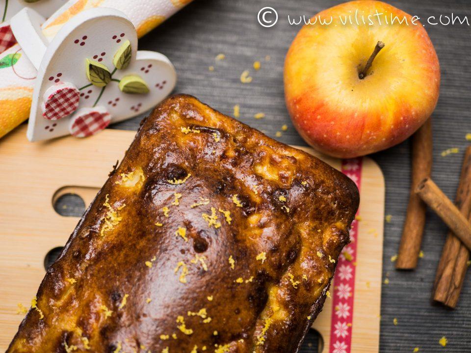 Безглутенов кекс с домашни ябълки и канела