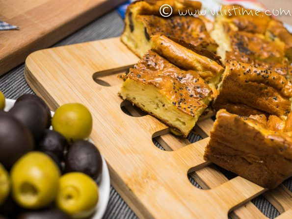 Солен кекс без брашно с маслини и крема сирене