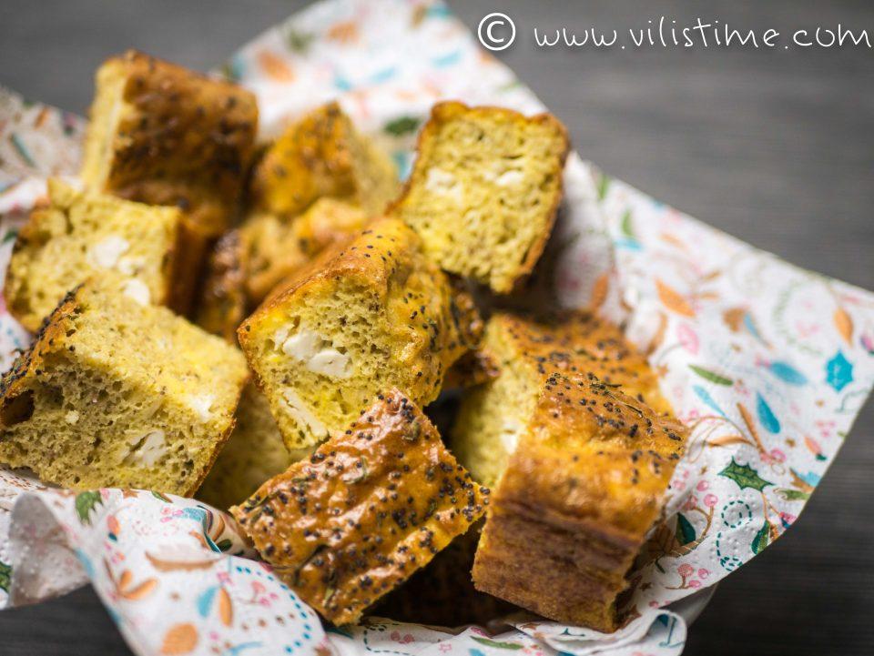 Солен кекс без брашно с овче сирене и сминдух