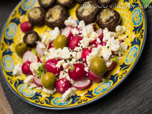 Печурки на фурна със сирене горгонзола и риган