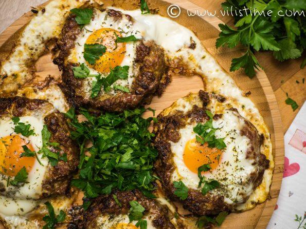 Гнезда от мляно телешко с яйца