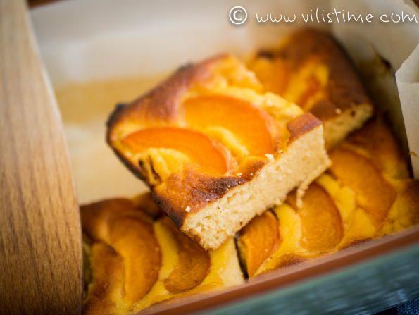 Нисковъглехидратен сладкиш с домашни кайсии