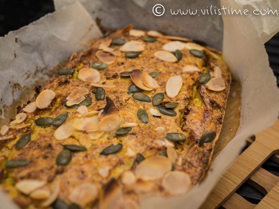 Нисковъглехидратен зеленчуков хляб без брашно