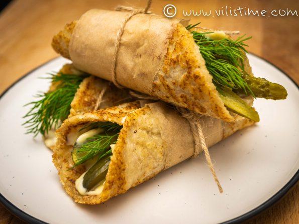 Плоски кето хлебчета без яйца и млечни