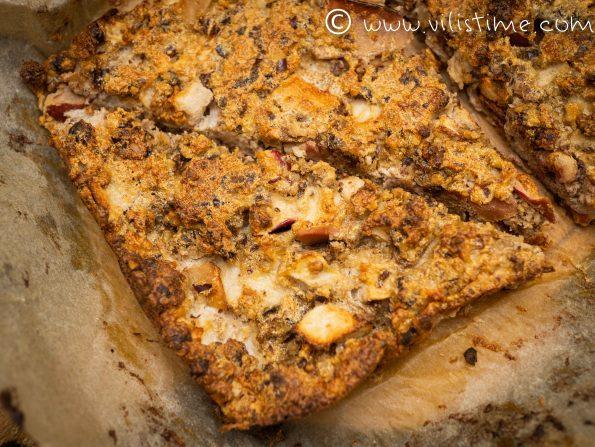 Бърз сладкиш без брашно с орехи и ябълки 🍎