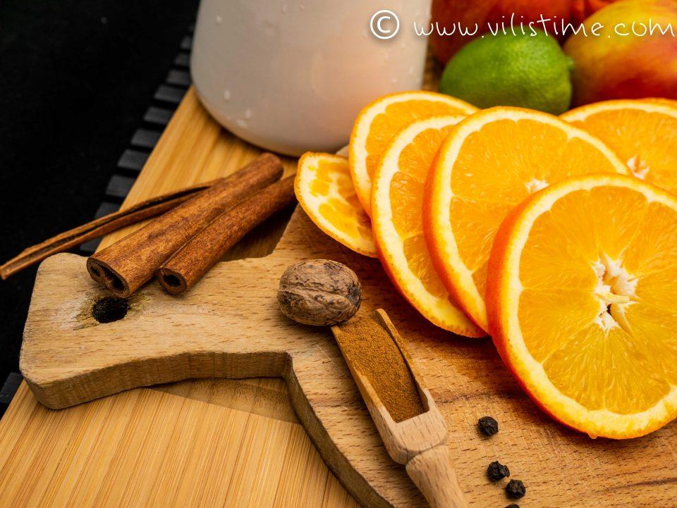 Домашно греяно вино с портокали и канела