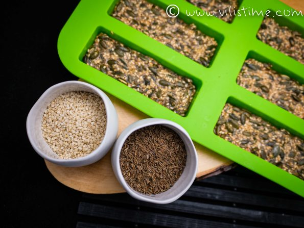 Безглутенови хрупанки от семена и ким