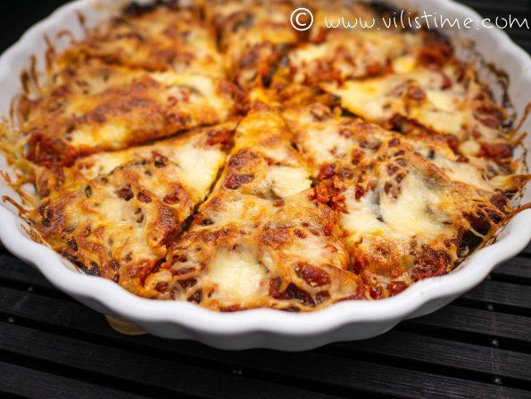 Патладжан на фурна с доматен сос и кашкавал