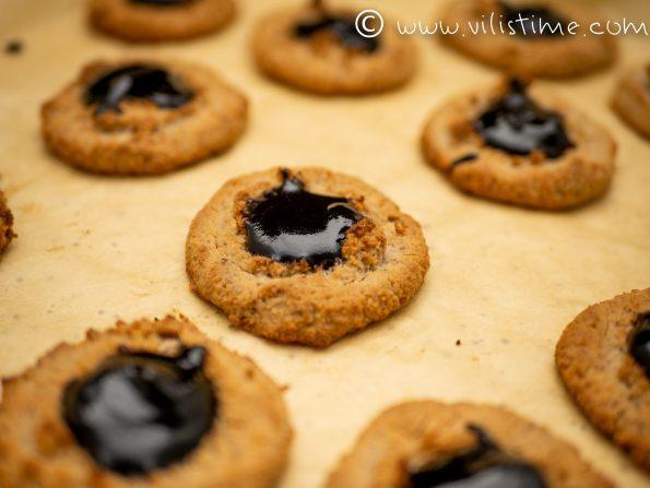 Нисковъглехидратни бисквити с шипков мармалад