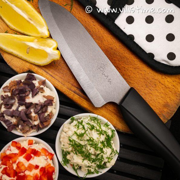 Керамичен кухненски нож Вили (+ протектор и безплатна доставка)